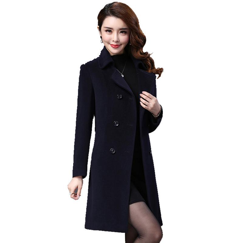 Áo pea coat dạ lông cừu cổ bẻ thắt đai