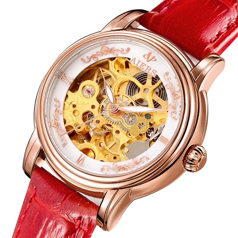 Đồng hồ cơ automatic nữ Aiers B202L