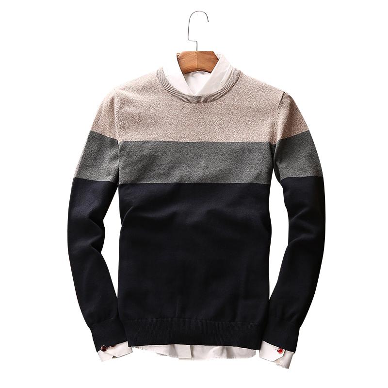 Áo len nam dài tay GF phối màu style Hàn Quốc