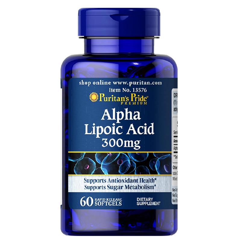 Viên uống chống oxy hóa Puritan's Pride Alpha Lipoic Acid 300 mg