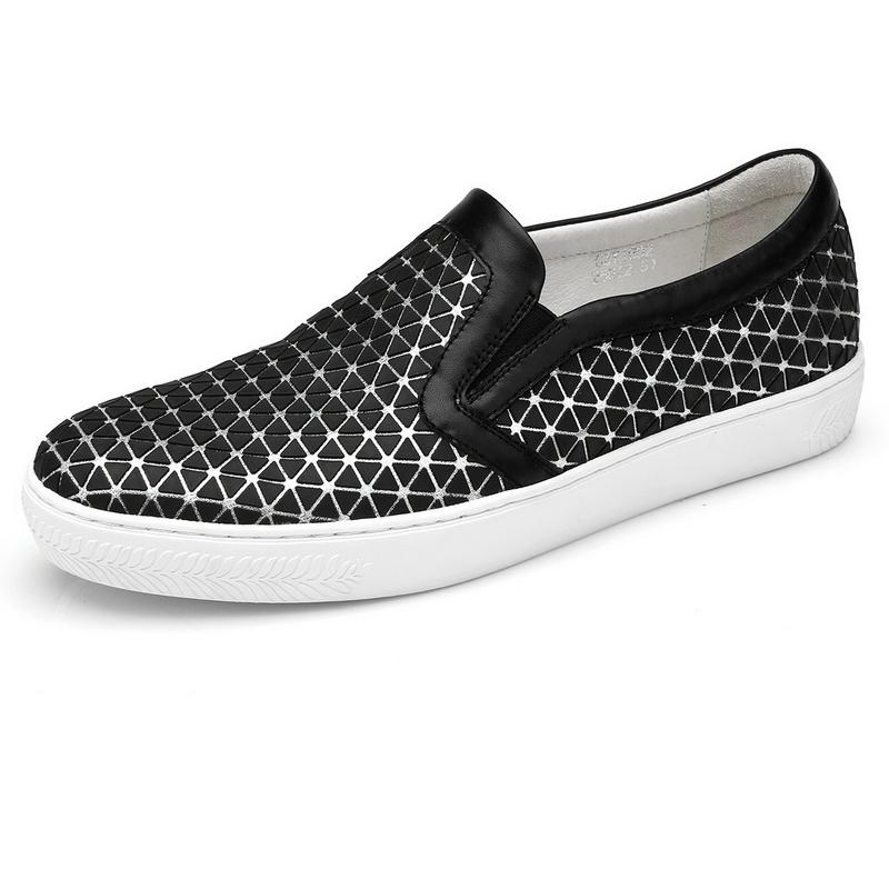 Giày slip-on họa tiết tam giác bắt sáng Olunpo