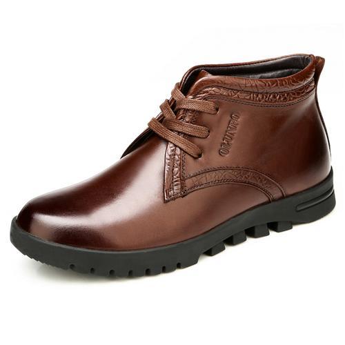 Giày nam tăng chiều cao Olunpo DFR1403 Đệm nhung giữ nhiệt