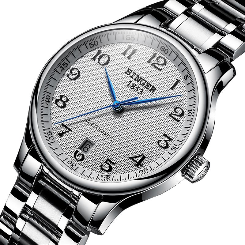 Đồng hồ cơ nam Automatic Classic Binger