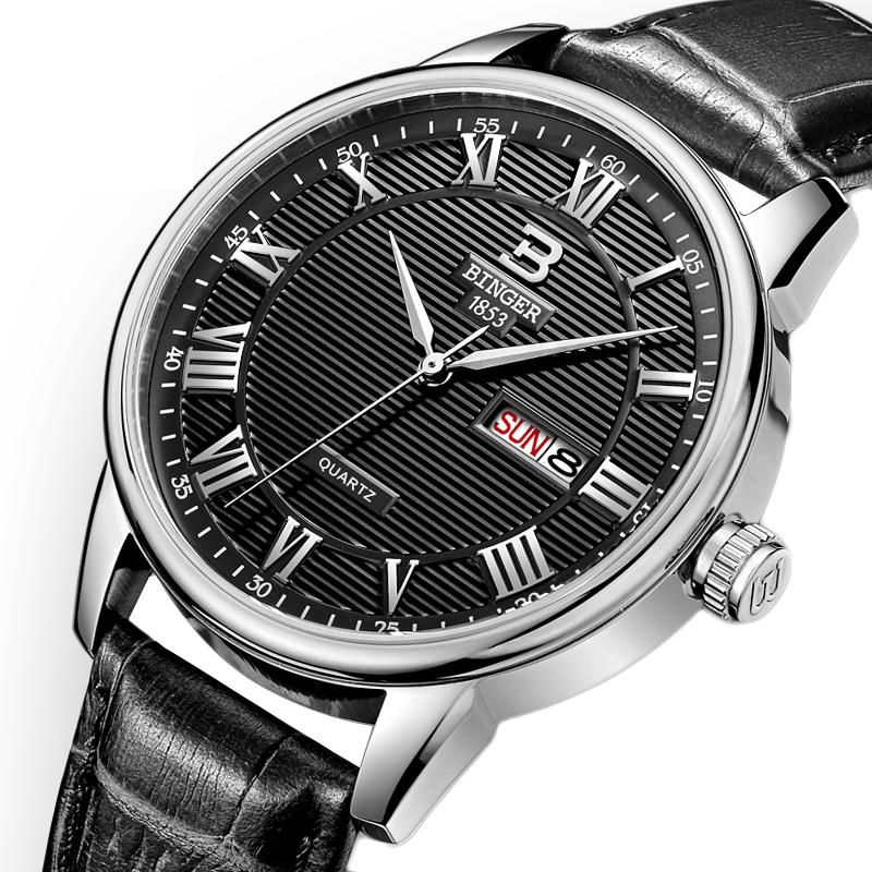 Đồng hồ nam vân sọc số La Mã Binger