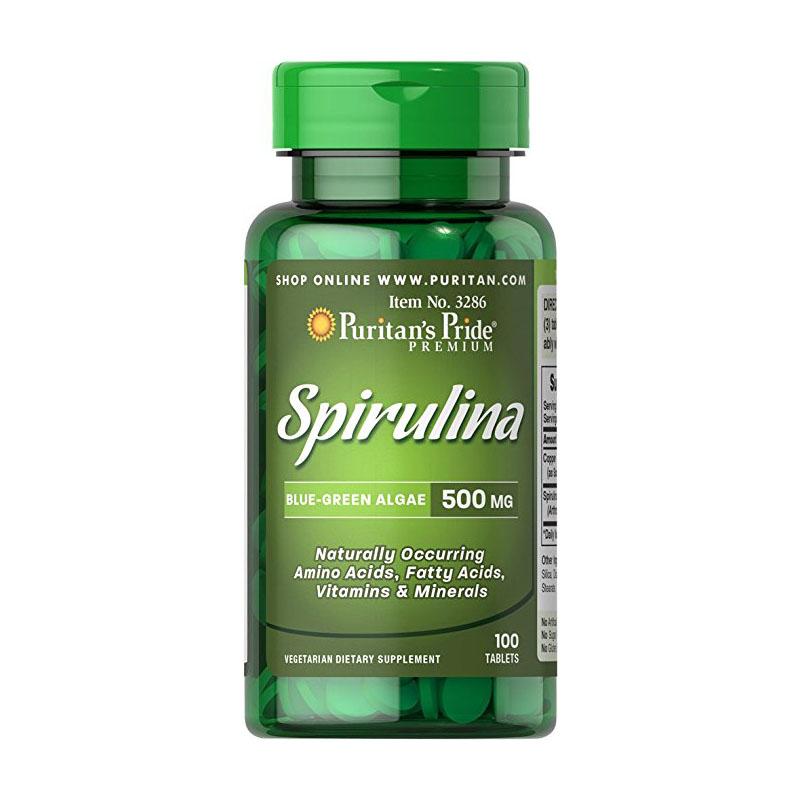 Viên uống tảo xoắn Puritan's Pride Spirulina 500mg