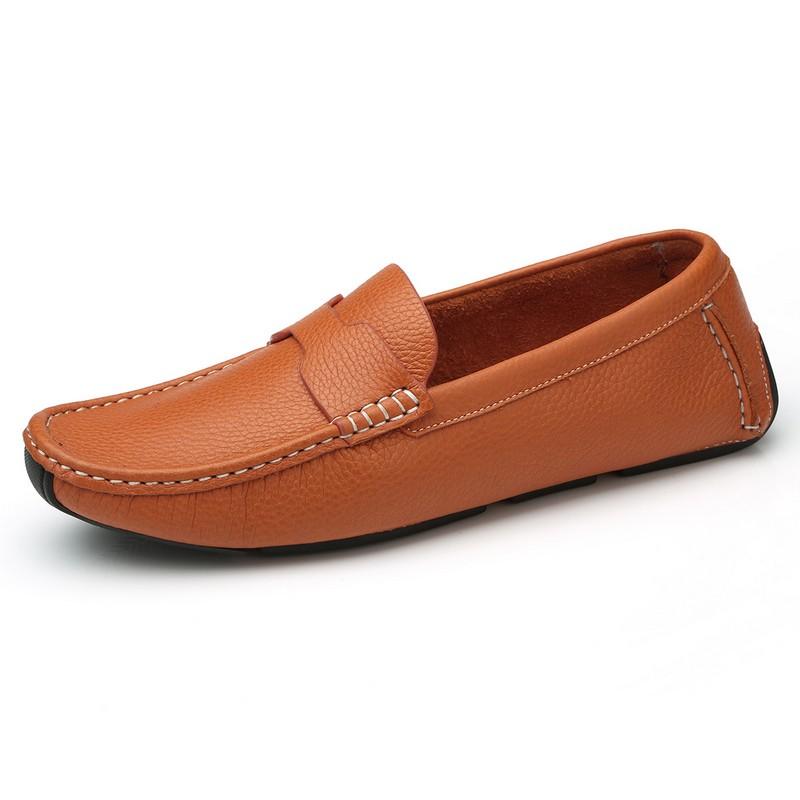 Giày Penny Loafer viền khâu Olunpo