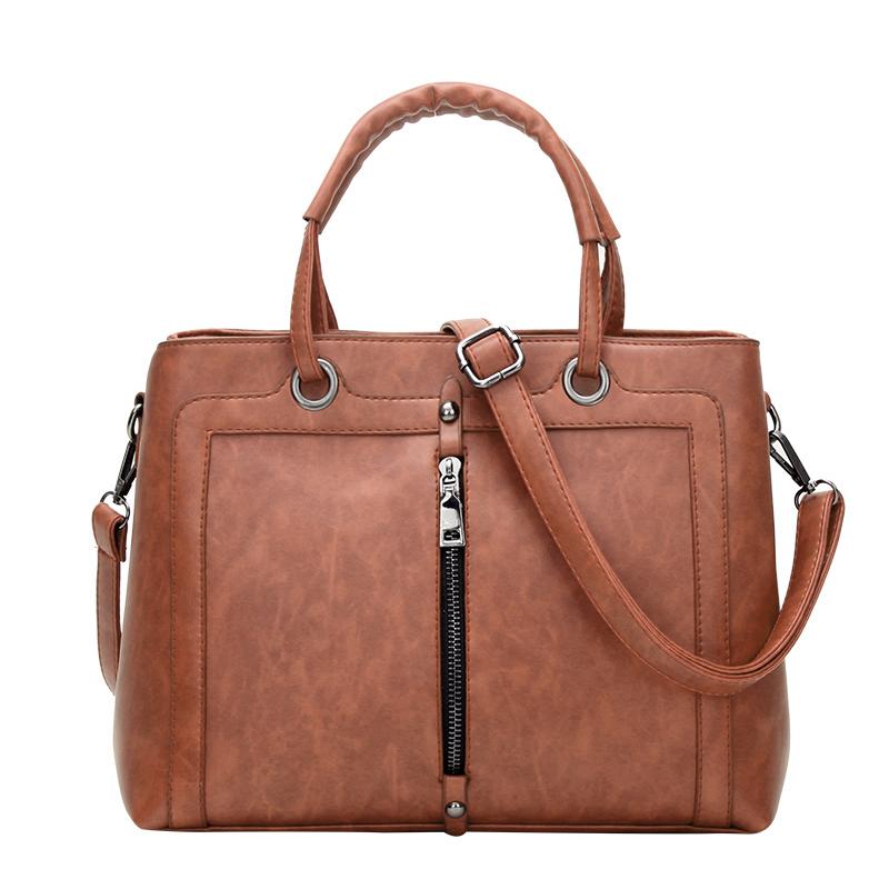 Túi xách nữ Top-Handle hai ngăn phối khóa Nobely