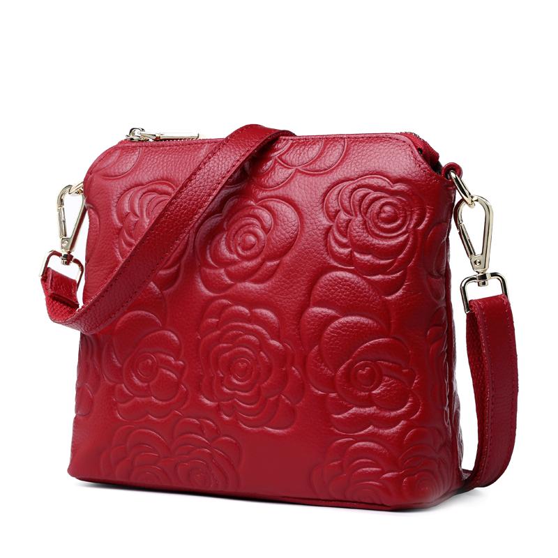 Túi đeo chéo crossbody vân hoa trà Gesunry