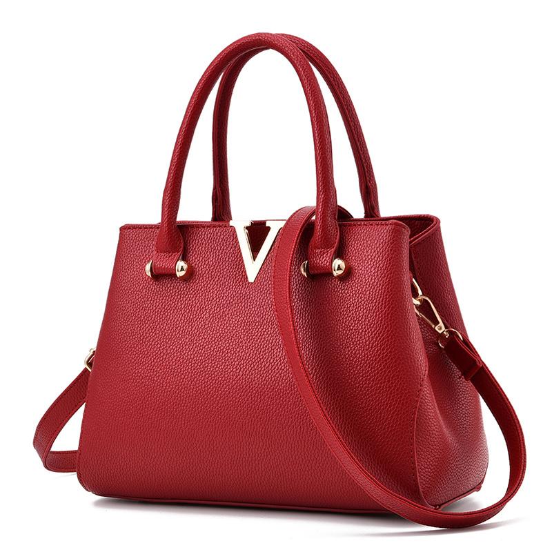 Túi xách nữ Top Handle miệng nẹp chữ V AGR