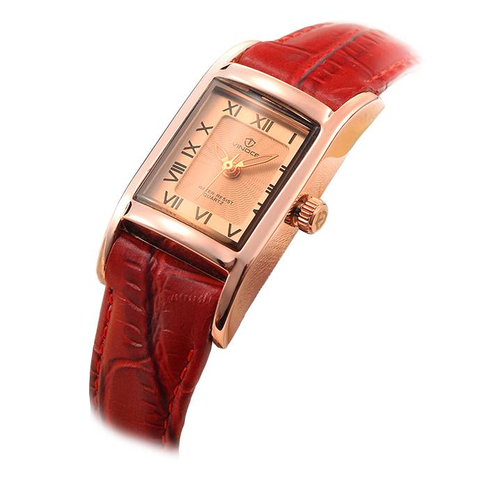 Đồng hồ nữ Vinoce mặt chữ nhật La Mã