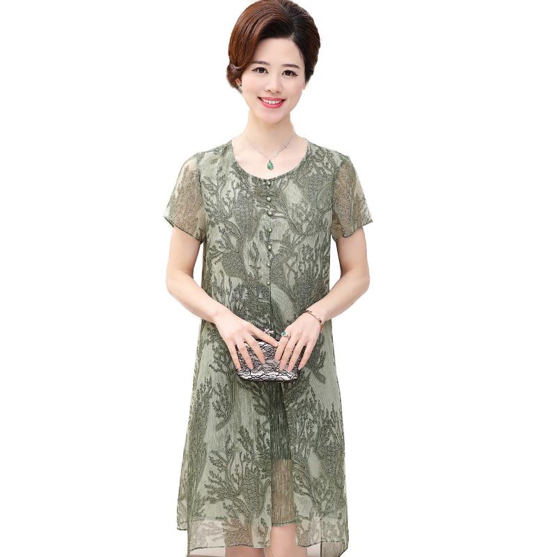 Váy chiffon vạt cánh tiên họa tiết san hô SMT
