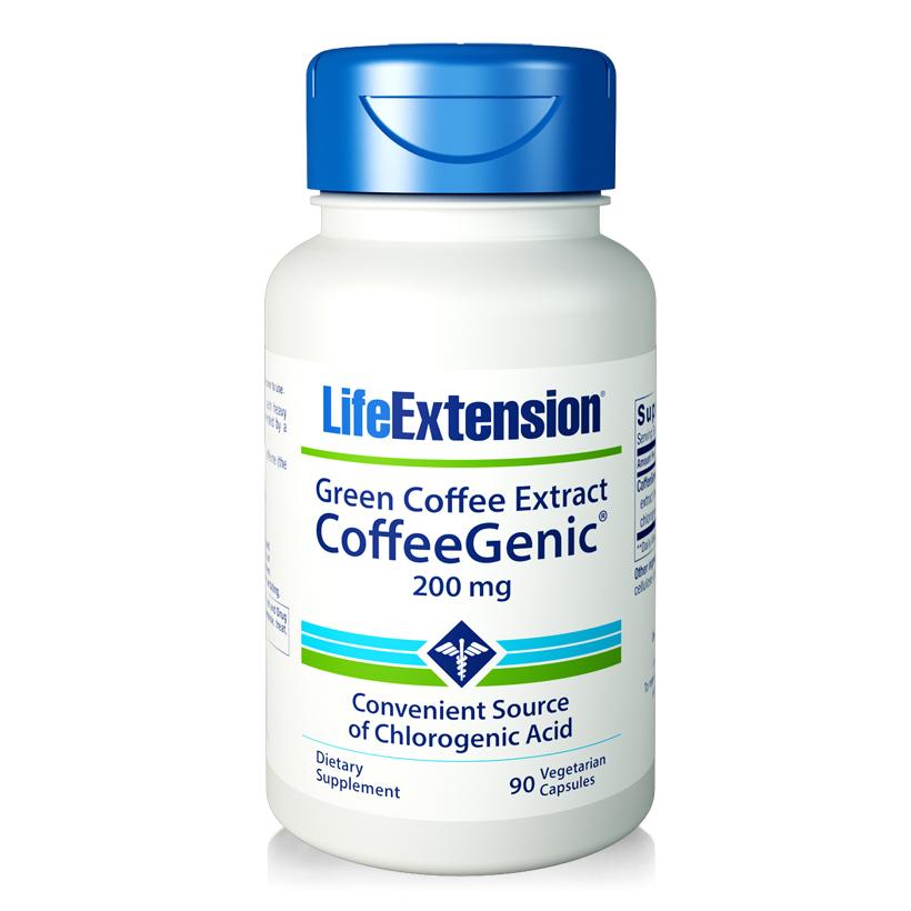 Viên uống chiết xuất cà phê xanh Life Extension Coffee Genic Green Coffee Extract 90 viên