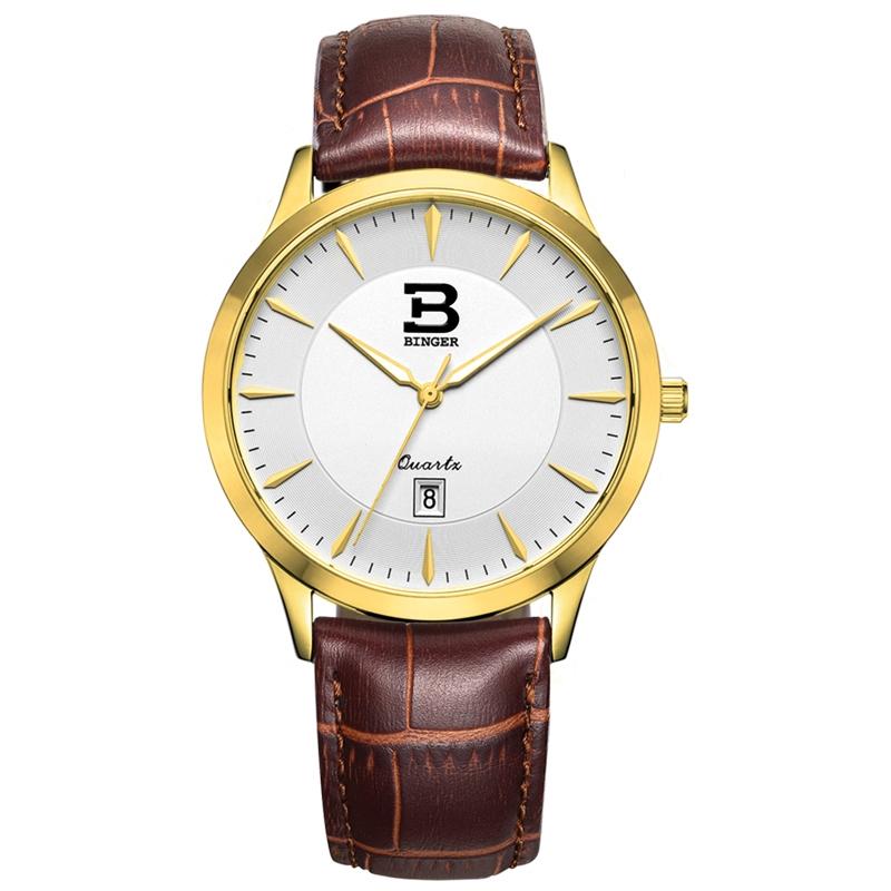 Đồng hồ nam siêu mỏng cao cấp Binger