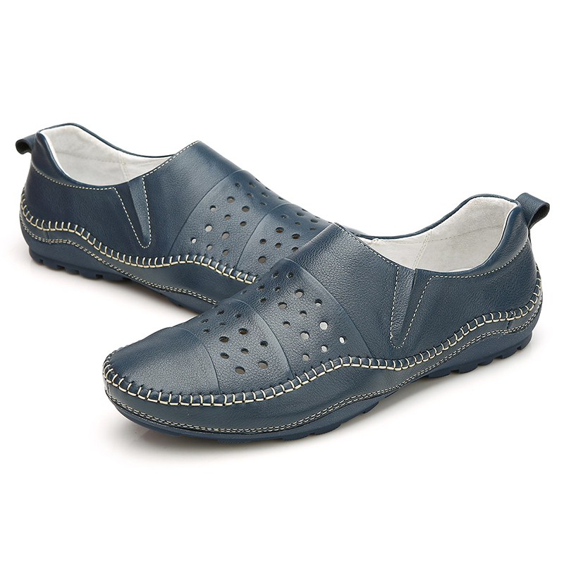 Giày lười nam da đục lỗ Olunpo XHT1502