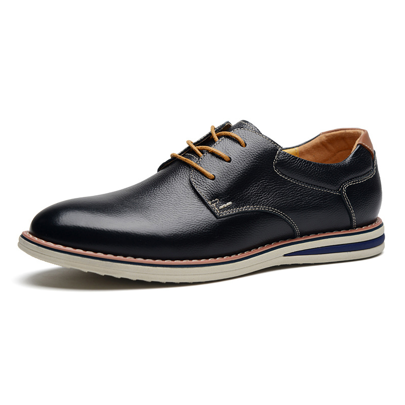 Giày da nam mũi tròn Simier 8126