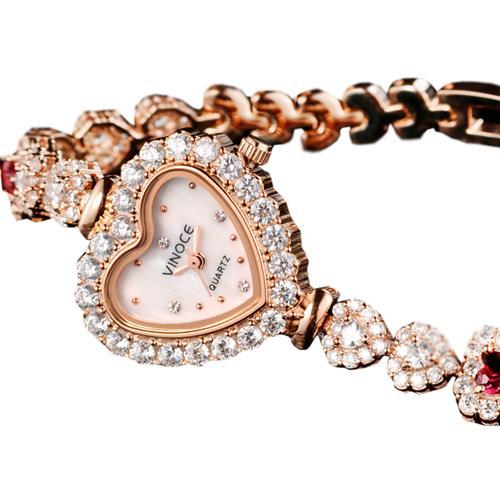 Đồng hồ nữ mặt trái tim Vinoce V633248G tinh tế