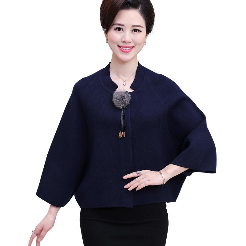 Áo khoác dạ dệt kim tay cánh dơi cổ tàu SMT