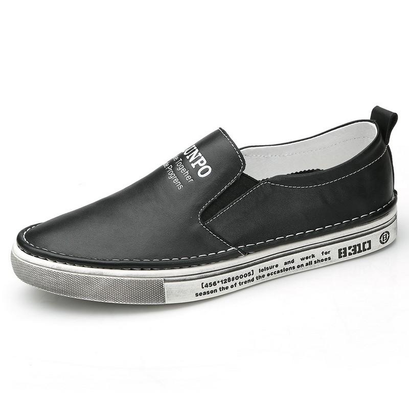 Giày Slip On nam miệng chun in chữ Olunpo