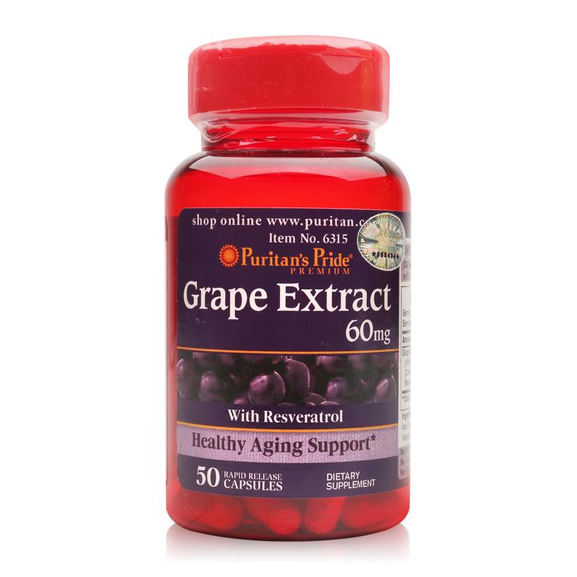 Viên uống chiết xuất nho Puritan's Pride Grape Extract 60mg