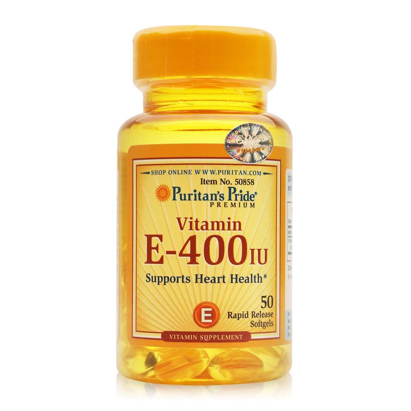 Viên uống bổ sung Vitamin E Puritan's Pride Vitamin E-400 IU 50 viên