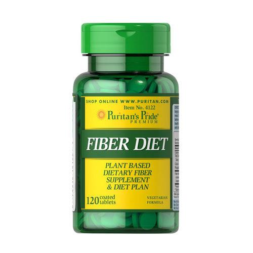 Viên uống hỗ trợ tiêu hóa, giảm cân Puritan's Pride Fiber Diet 120 viên