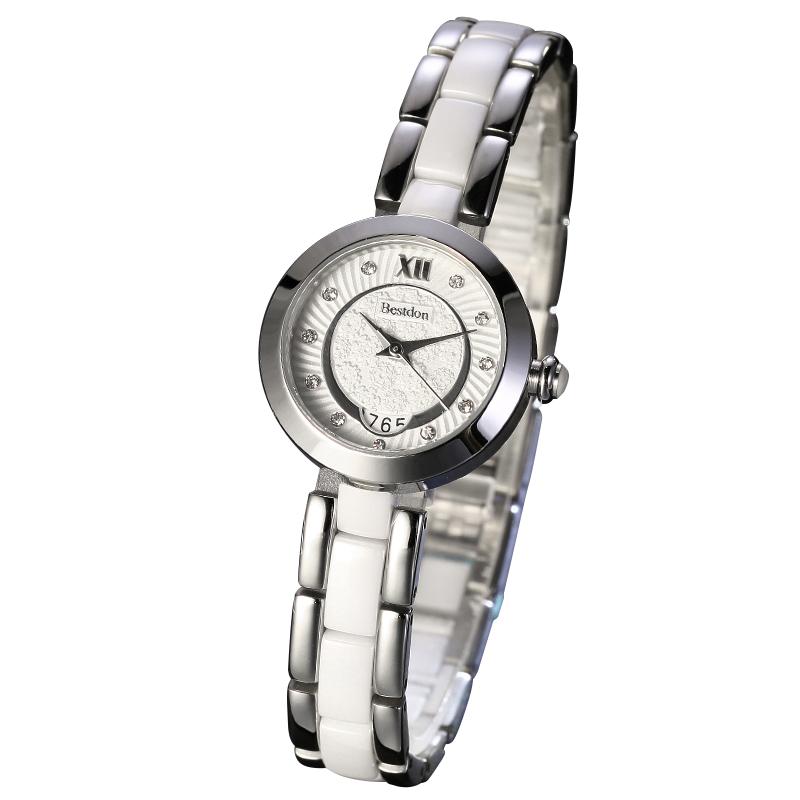 Đồng hồ nữ Bestdon mặt tròn vân sóng nước