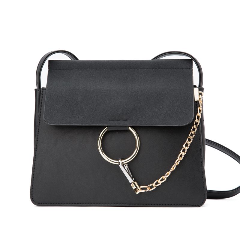 Túi Faye phối màu khóa tròn PDG
