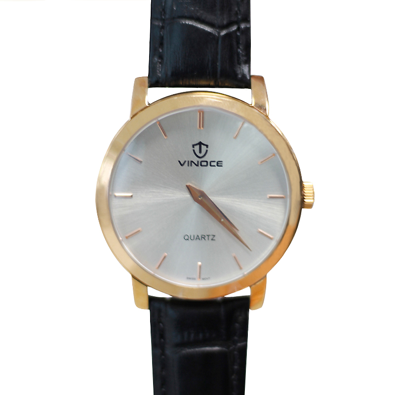 Đồng hồ nam mặt tròn Vinoce V3268
