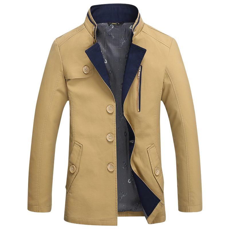 Áo khoác kaki nam GF cổ giả vest