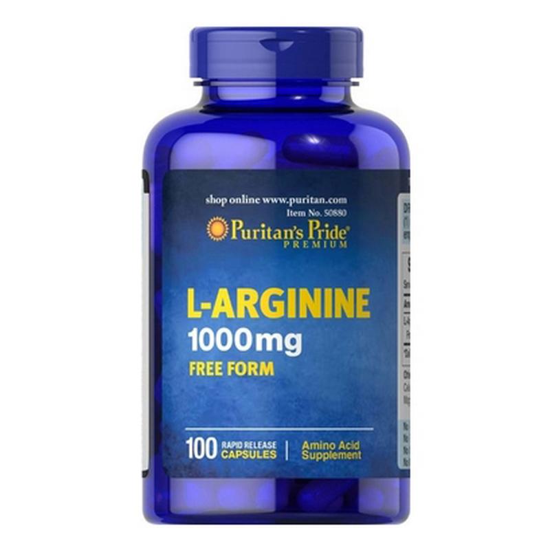 Viên uống giải độc gan Puritan's Pride L-Arginnine 1000mg 100 viên