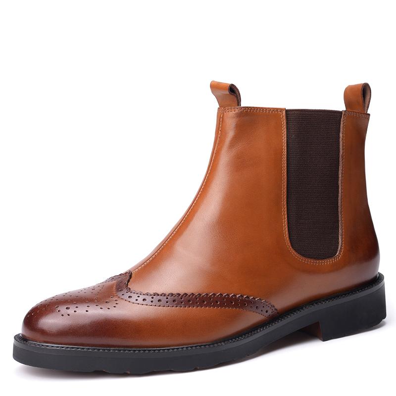 Giày Chelsea Boots nam da bê Vangosedun