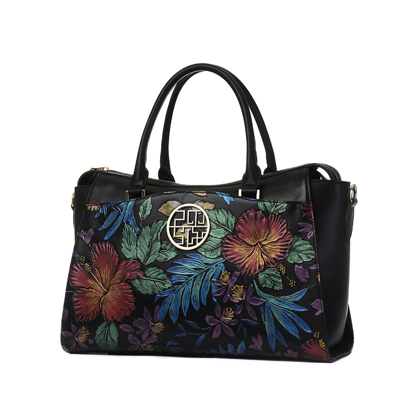 Túi xách Tote in hoa lá 3D PMSIX