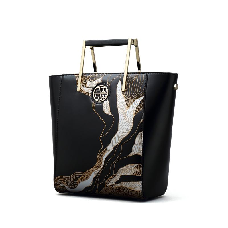 Túi Frame quai xách hợp kim in họa tiết 3D PMSIX