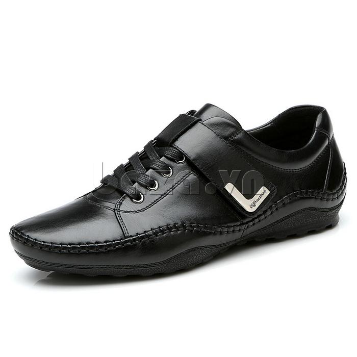 giày nam Olumpo QABA1214 màu đen sang trọng giúp nam giới thể hiện bản lĩnh của mình