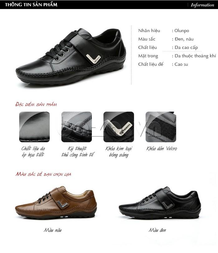 đặc điểm của giày nam Olumpo QABA1214