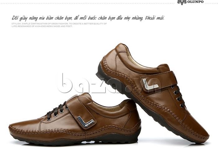 giày nam Olumpo QABA1214 nâng niu bàn chân bạn, để mỗi bước chân nhẹ nhàng, thoải mái
