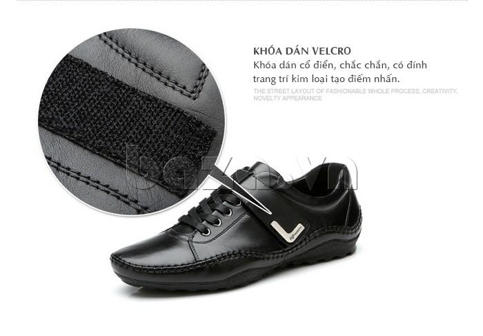 giày nam Olumpo QABA1214 thanh nhã, cá tính