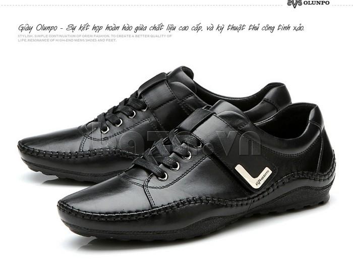 giày nam Olumpo QABA1214 là sự kết hợp hoàn hảo giữa phong cách và kiểu dáng