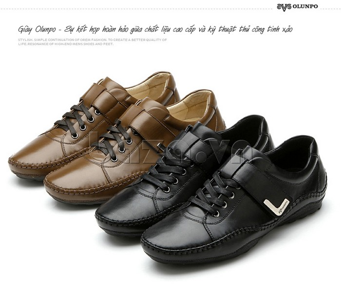 giày nam Olumpo QABA1214 sự kết hợp hoàn hảo giữa kiểu dáng và kỹ thuật thủ công tinh xảo