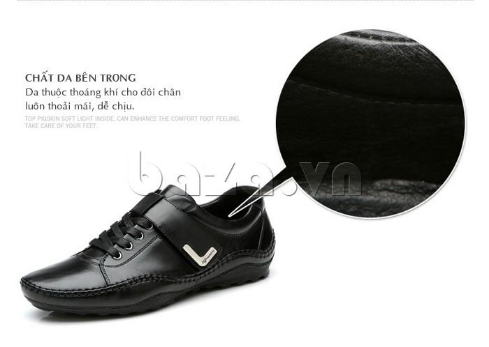 giày nam Olumpo QABA1214 có da thuộc cao cấp, chống khuẩn