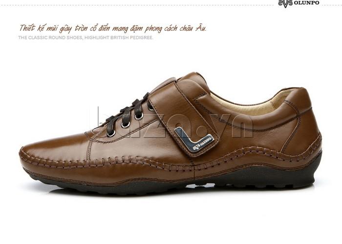 Thiết kế mũi giày tròn cổ điển mang đậm phong cách Châu Âu