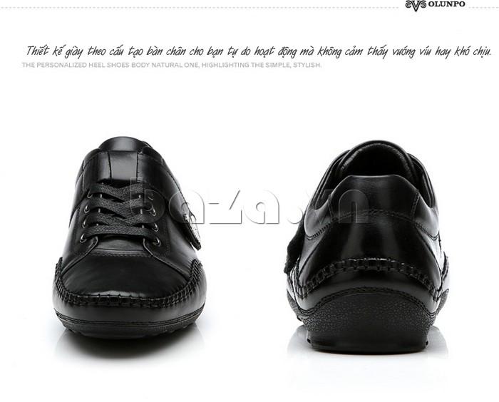 Thiết kế giày nam Olumpo QABA1214 theo cấu trúc chân của người châu á
