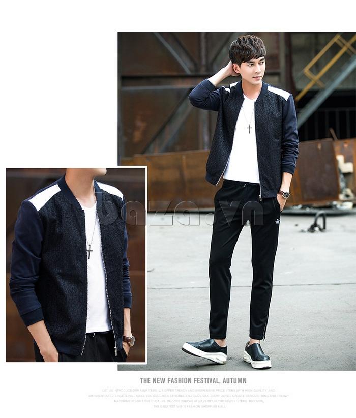 Áo jacket nam dáng ngắn No1Dara WT10032 hoàn hảo