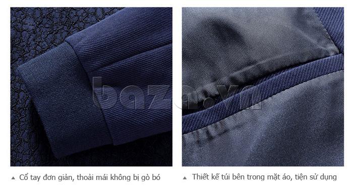 Áo jacket nam dáng ngắn No1Dara WT10032 may tỉ mỉ