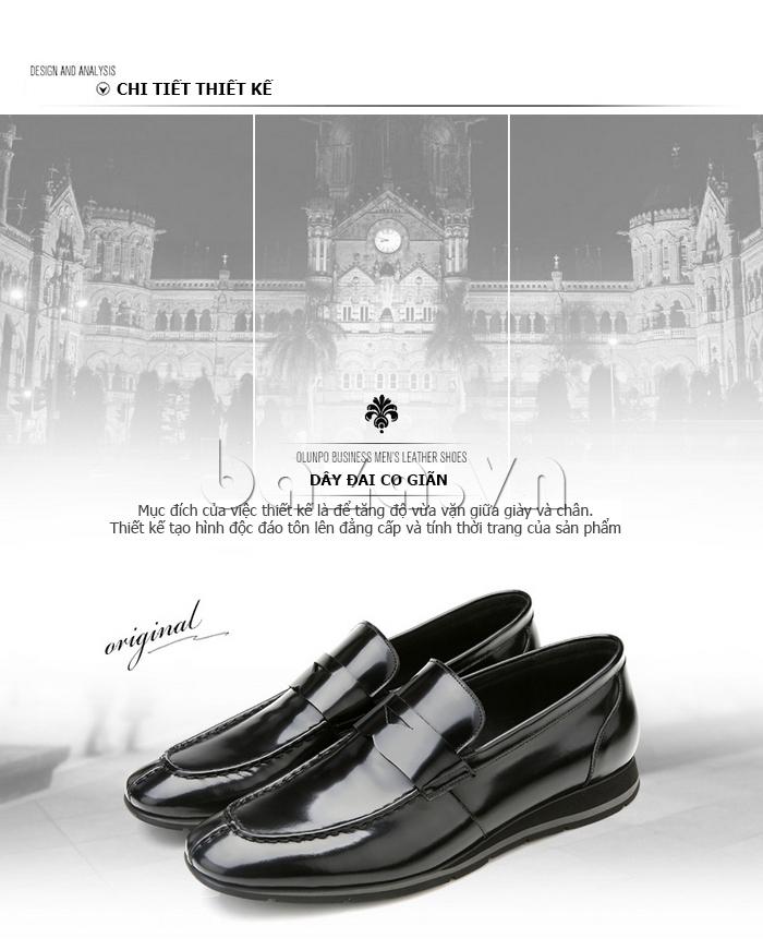 chi tiết thiết kế của Giày da nam Olunpo QHT1431