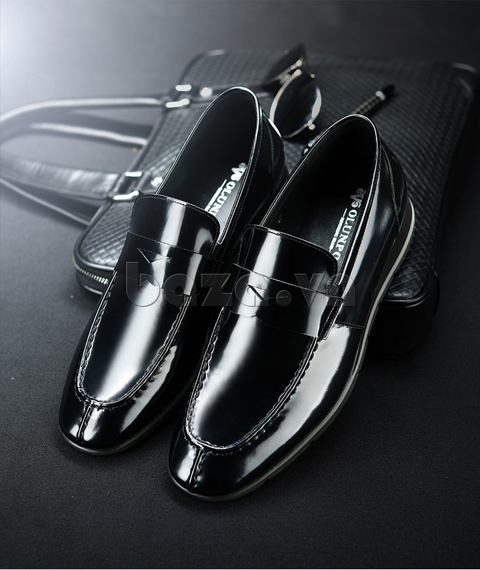 Giày da nam Olunpo QHT1431  màu đen sang trọng quyến rũ