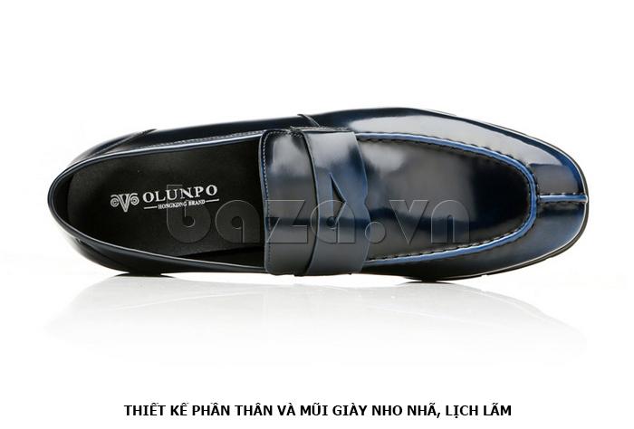 Giày da nam Olunpo QHT1431  thiết kế nho nhã, lịch lãm