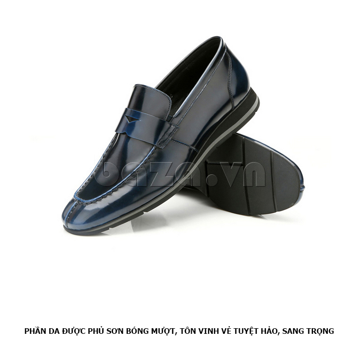 Giày da nam Olunpo QHT1431  da bóng sáng