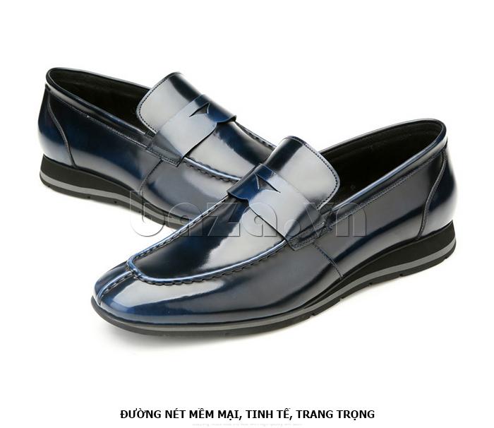 Giày da nam Olunpo QHT1431  đường nét mềm mại