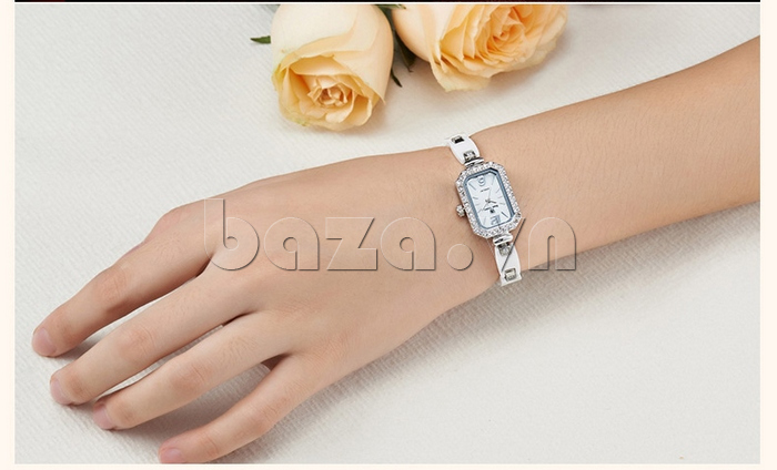 Đồng hồ nữ dây đeo gốm sứ Royal Crown 63806C